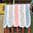 画像2: Vintage U.S.A Baby Knit Blanket Rug 70x80 cm (S080)  (2)