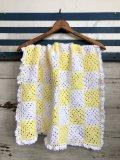Vintage U.S.A Baby Knit Blanket Rug 64x64 cm (S074)