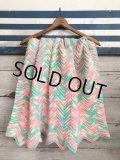Vintage U.S.A Baby Knit Blanket Rug 100x90 cm (S075)
