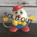 Vintage Fisher Price Humpty Dumpty Pull Toy Red (S103)
