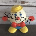 Vintage Fisher Price Humpty Dumpty Pull Toy Yellow (S102)