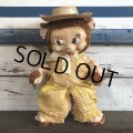 Vintage Gund Famer Bear Rubber Face Doll (S100)