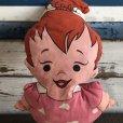 画像1: Vintage The Flintstones Pebbles Pillow Doll (S111) (1)
