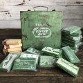 Vintage Bullard First Aid Kit Mettal Box Cabinet (S120)