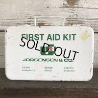 Vintage Jorgensen First Aid Kit Mettal Box Cabinet (S119)