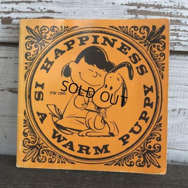 画像1: Vintage Book Snoopy Happiness is a warm puppy (S140)