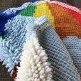 画像5: Vintage Rainbow Parasol Bear Rag Mat (S149)
