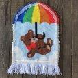 画像6: Vintage Rainbow Parasol Bear Rag Mat (S149)