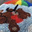 画像3: Vintage Rainbow Parasol Bear Rag Mat (S149)