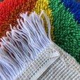 画像4: Vintage Rainbow Parasol Bear Rag Mat (S149)