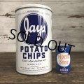 Vintage JAYS Potatochips Tin Can (S193)