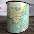 画像6: Vintage World Map Trash Can (S205)