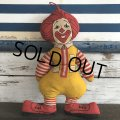 70s Vintage McDonald's Pillow Doll RONALD (S229)