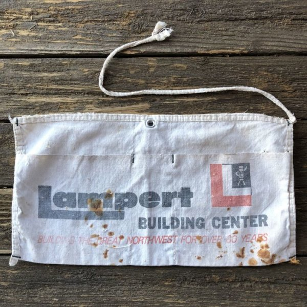 画像2: Vintage Advertising Work Apron Lampert BUILDING CENTER (S234)