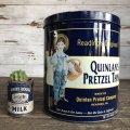 Vintage Quinlan's Pretzel Company Tin Can 48 oz (S255)