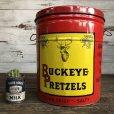 画像1: Vintage Old Style Dutch Buckeye Pretzel Tin (S253) (1)