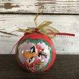 画像1: 90s Vintage WB Daffy Duck Christmas Ball Ornament (S270) (1)