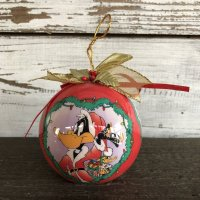 90s Vintage WB Daffy Duck Christmas Ball Ornament (S270)