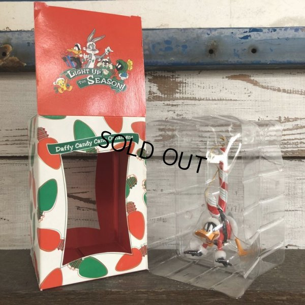 画像2: 90s Vintage WB Daffy Duck Candy Cane Ornament (S260)