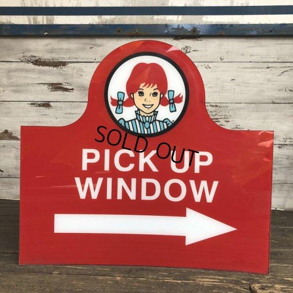 画像2: Vintage Original Wendy's PICK UP Sign (S277)
