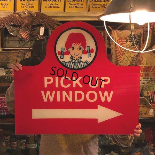 画像1: Vintage Original Wendy's PICK UP Sign (S277)