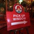 画像8: Vintage Original Wendy's PICK UP Sign (S277)
