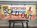 Vintage SPORTSMIX Dog Food Store Display Sign (S278)