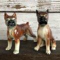 Vintage Dog Ceramic Statue Set (S285)