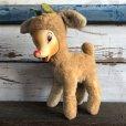 画像1: Vintage Rudolph the Red Nosed Reindeer Rubber Face Doll (S293) (1)