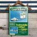 "Vintage KOOL ""Cool'n Easy"" Cigarette Tabacco Poster Sign (S286)"