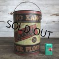 Vintage Bleached Made Rite Flour KAN-O tin pail can (S289)