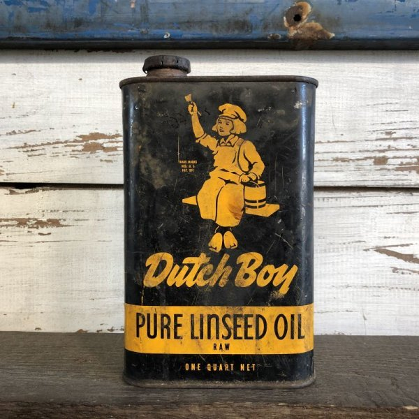 画像1: Vintage Dutch Boy Paint Linseed Oil One Quart Can (S295)