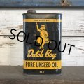 Vintage Dutch Boy Paint Linseed Oil One Quart Can (S296)