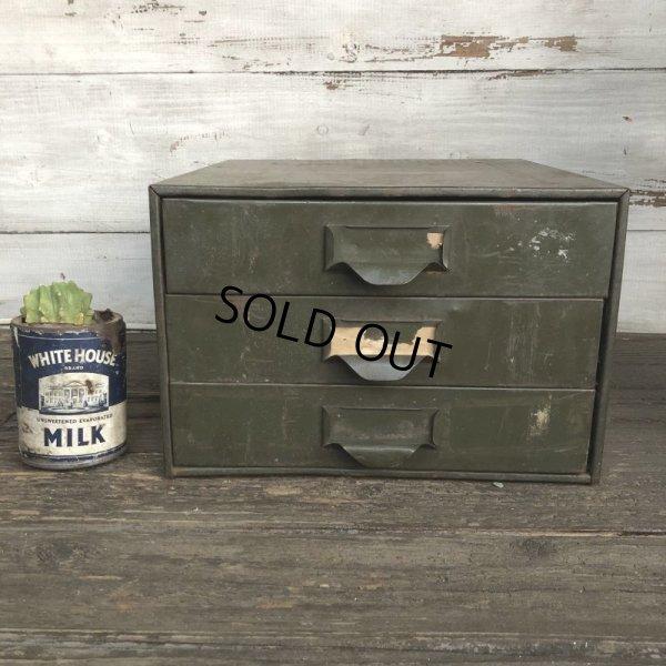 画像1: Vintage Lyon Chests 3 Drawer Mettal Tool Cabinet (S312)