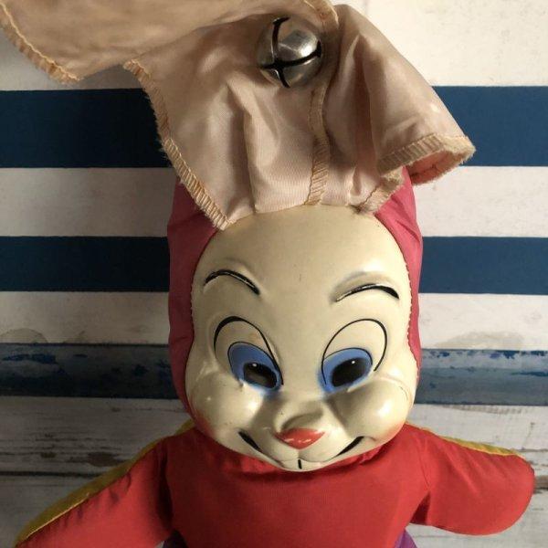 画像2: Vintage Celluloid Face Bunny Doll 45cm (S325)
