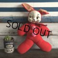 Vintage Celluloid Face Valentine Bunny Doll (S324)