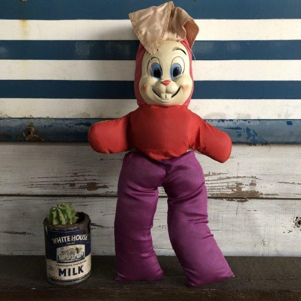 画像1: Vintage Celluloid Face Bunny Doll 45cm (S325)