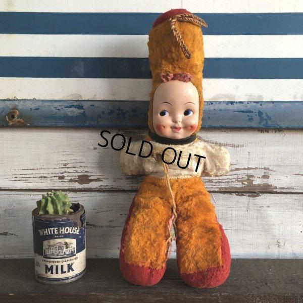 画像1: Vintage Celluloid Face Kids Doll 43cm (S319)