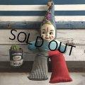 Vintage Celluloid Face Clown Doll 60cm (S322)