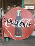 Vintage Coca-Cola Original Huge Round Sign (S329)