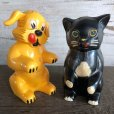 画像1: 50s Vintage Ken-L Ration Fido Dog Fifi Cat S&P Shakers (S331) (1)