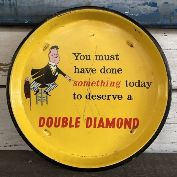 画像1: Vintage Tin Tray DOUBLE DIAMOND (S333)