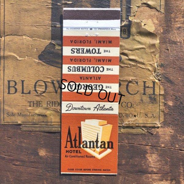 画像1: Vintage Matchbook Atlantan HOTEL (MA1734)