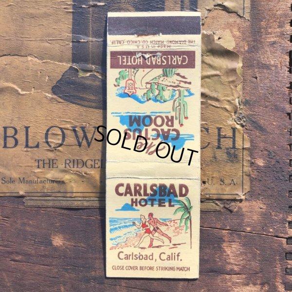 画像1: Vintage Matchbook CARLSBAD HOTEL (MA1725)