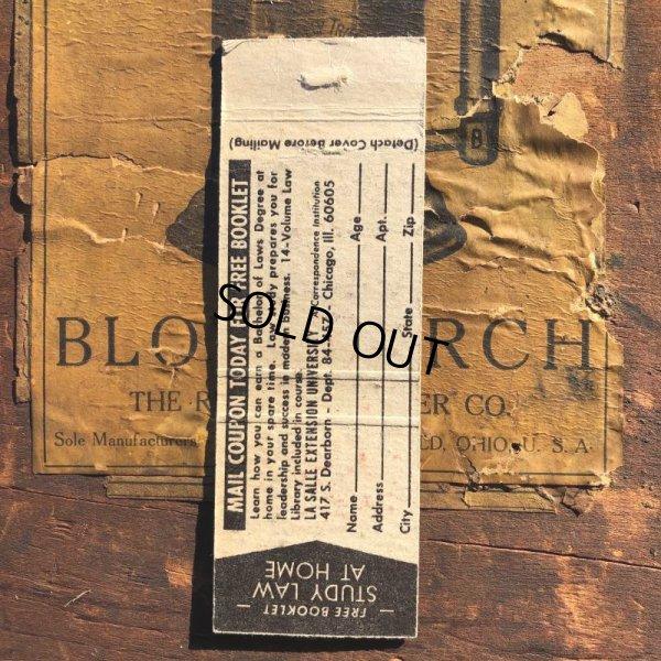 画像2: Vintage Matchbook Businessmen LAW TRAINING (MA1803)