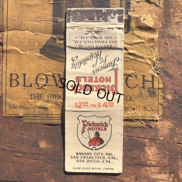 画像1: Vintage Matchbook Pickwick HOTELS (MA1729)