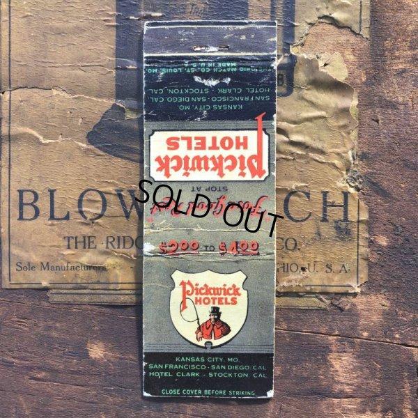 画像1: Vintage Matchbook Pickwick HOTELS (MA1731)