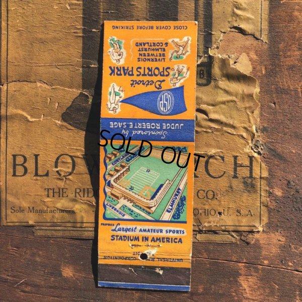 画像1: Vintage Matchbook Detroit Sports Park (MA1799)