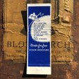 画像2: Vintage Matchbook Blue Glass Oceanfront Motel (MA1815) (2)