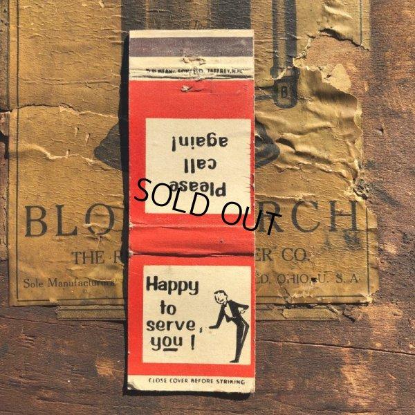 画像1: Vintage Matchbook Happy to serve you! (MA1790)